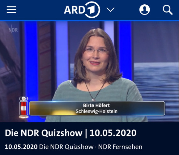 TV-Auftritt Birte Höfert